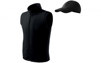 Vesta fleece negru + sapca