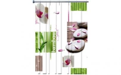 Perdea de dus vinil imprimata Orhidee