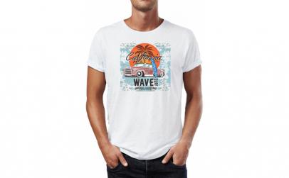 Tricou barbati California Wave, Bumbac