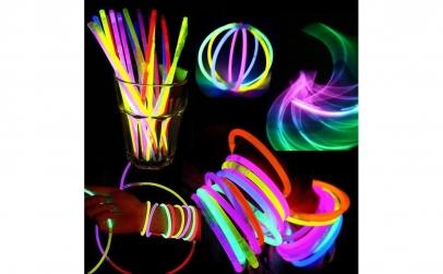 Set 100 bratari luminoase fluorescente