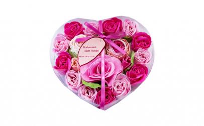 Set cadou Heart Box cu trandafiri din