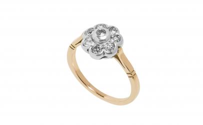 Inel din aur 14K cu diamante