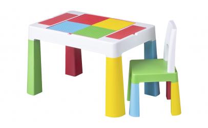 Set masuta de constructii si scaunel