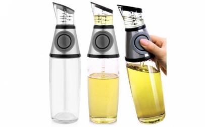Sticla pentru ulei si otet cu buton