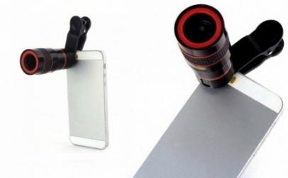 Mini-telescop cu zoom pentru telefon