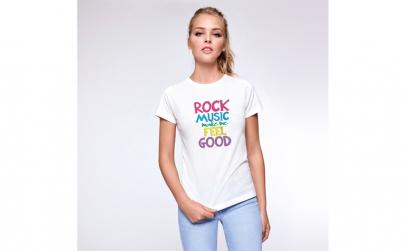 Tricou Femei Rock Music, Bumbac 100%,