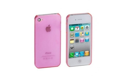 Husa iPhone 4 4S Silicon - Roz
