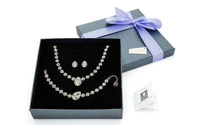 Set bijuterii cu elemente Swarovski