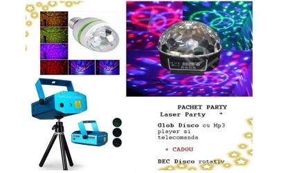 Laser Disco cu doua culori + Glob Disco