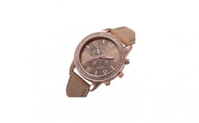 Ceas Dama Geneva Beige Leather