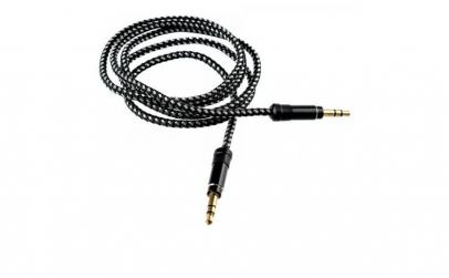 Cablu audio Jack-Jack, 1 M, mufe aurite,