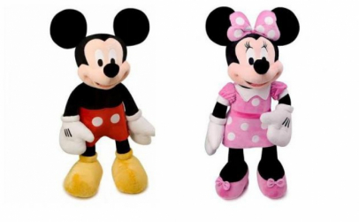 Plus Mickey Mouse si Minnie Mouse 45cm