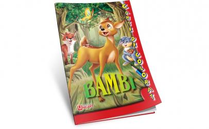Carte de colorat Bambi