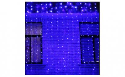 Instalatie perdea LED 3m x 2m albastru