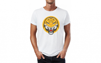 Tricou barbati Yellow Tiger, Bumbac
