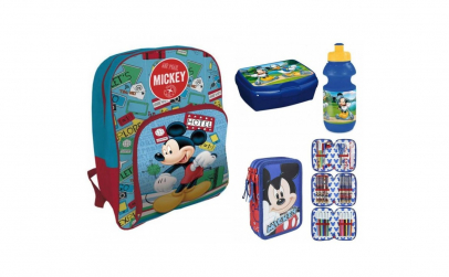 Ghiozdan scoala echipat Mickey Mouse