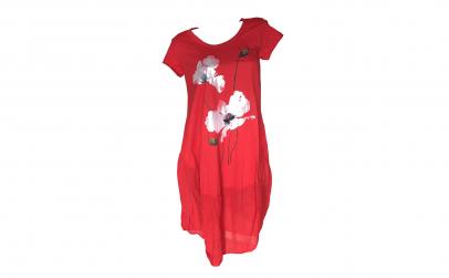 Rochie rosie de vara
