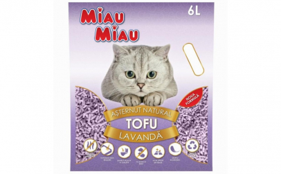 Nisip pisici MIAU MIAU Tofu LAVANDA 6L
