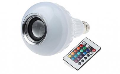 Bec LED disco cu boxa 3W