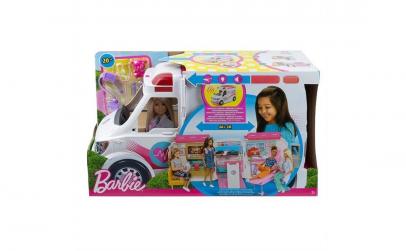 Set Barbie-Ambulanta cu lumina si sunet