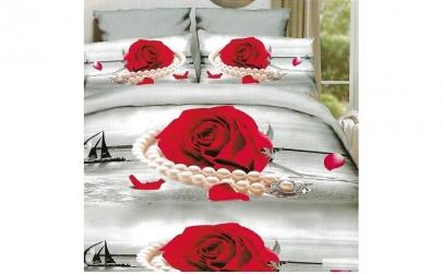 Lenjerie de pat matrimoniala 6 piese