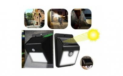 Lampa led solara cu senzor de miscare EV