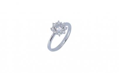 Inel Floare cu Pietre Argint 925,