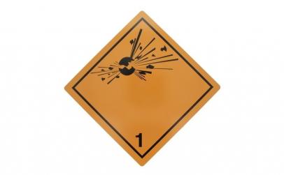 Tablita placa avertizare marcaj ADR   1