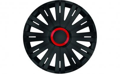 Set capace roti 15` negre cu inel rosu a