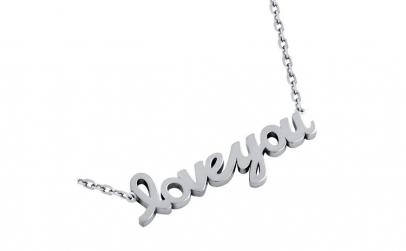 Colier argint 925 rodiat Love You