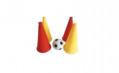 Set minge fotbal si 4 jaloane