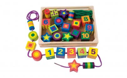 Joc Montessori de snuruit Cifre si Forme
