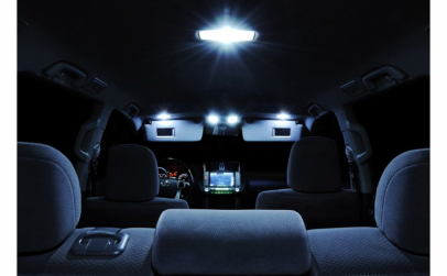 Placuta LED 8 smd cu adaptor C5W si T10