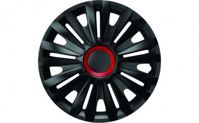 Set capace roti 15` negre cu inel rosu