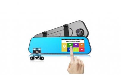 Oglinda camera video auto dubla t