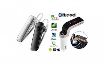 Casca Bluetooth + Modulator FM auto