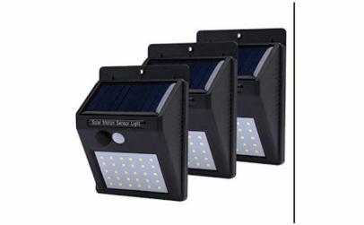 Set cu 3 lampi LED solare cu senzor