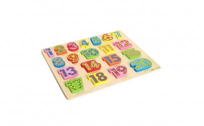 Puzzle 3D lemn cu cifre 1-20