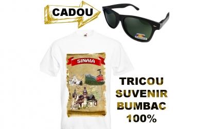 Tricou suvenir SINAIA+ochelari CADOU