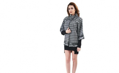 Jacheta Aylin negru cu gri
