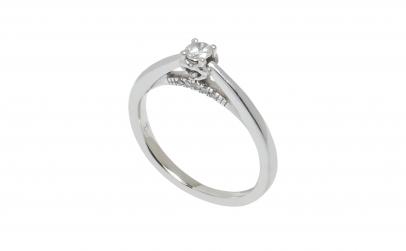 Inel de logodna aur 18K, diamante