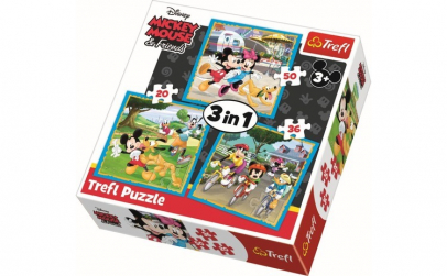 PUZZLE TREFL 3IN1 MICKEY MOUSE SI