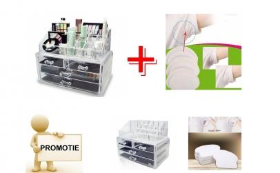 Organizator cosmetice + Set paduri