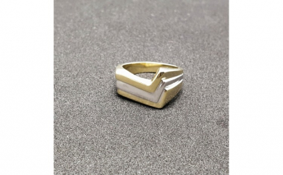 Inel placat cu aur Seeker