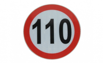 Autocolant reflectorizant 110km h O 20