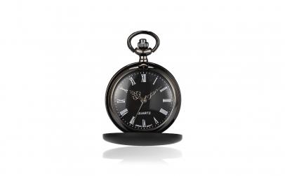 Ceas de buzunar negru mat