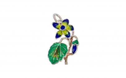 Pandantiv din argint 925, Floare