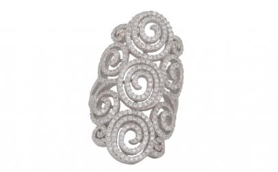 Inel dama argint 925 Crystal Spiral