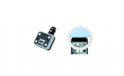 Modulator FM, 2 intrari USB, Mp3, TF