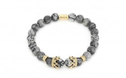Bratara LUX Gold Crown placata cu aur